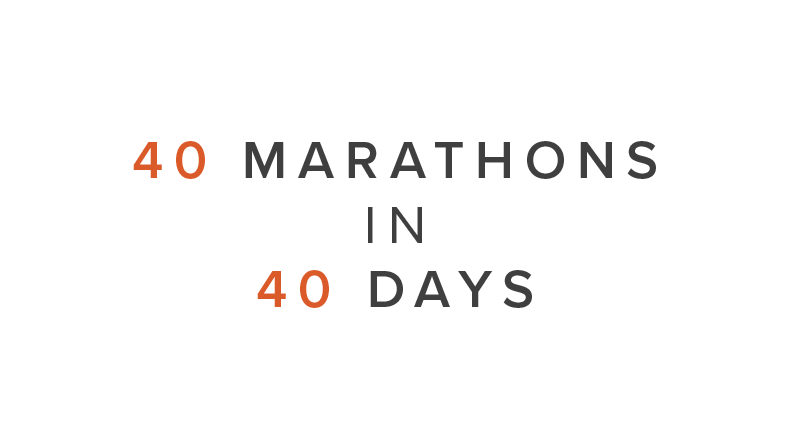 40 Marathons In 40 Days