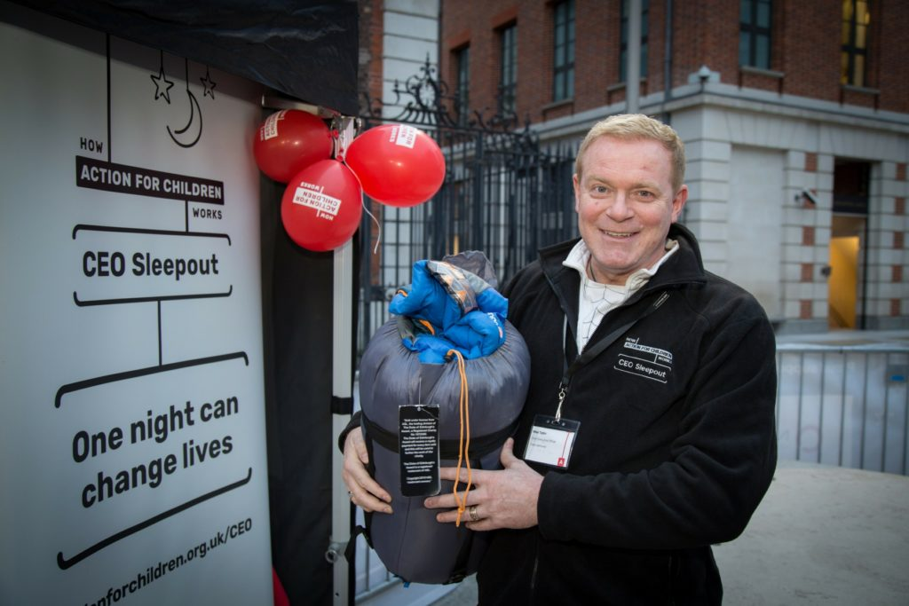 CEO Sleepout 2018, Michael Tobin OBE, Action for Children
