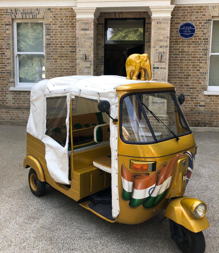 Mike Tobin, Michael Tobin OBE, Rickshaw, Tuk Tuk, India, Elephant Family