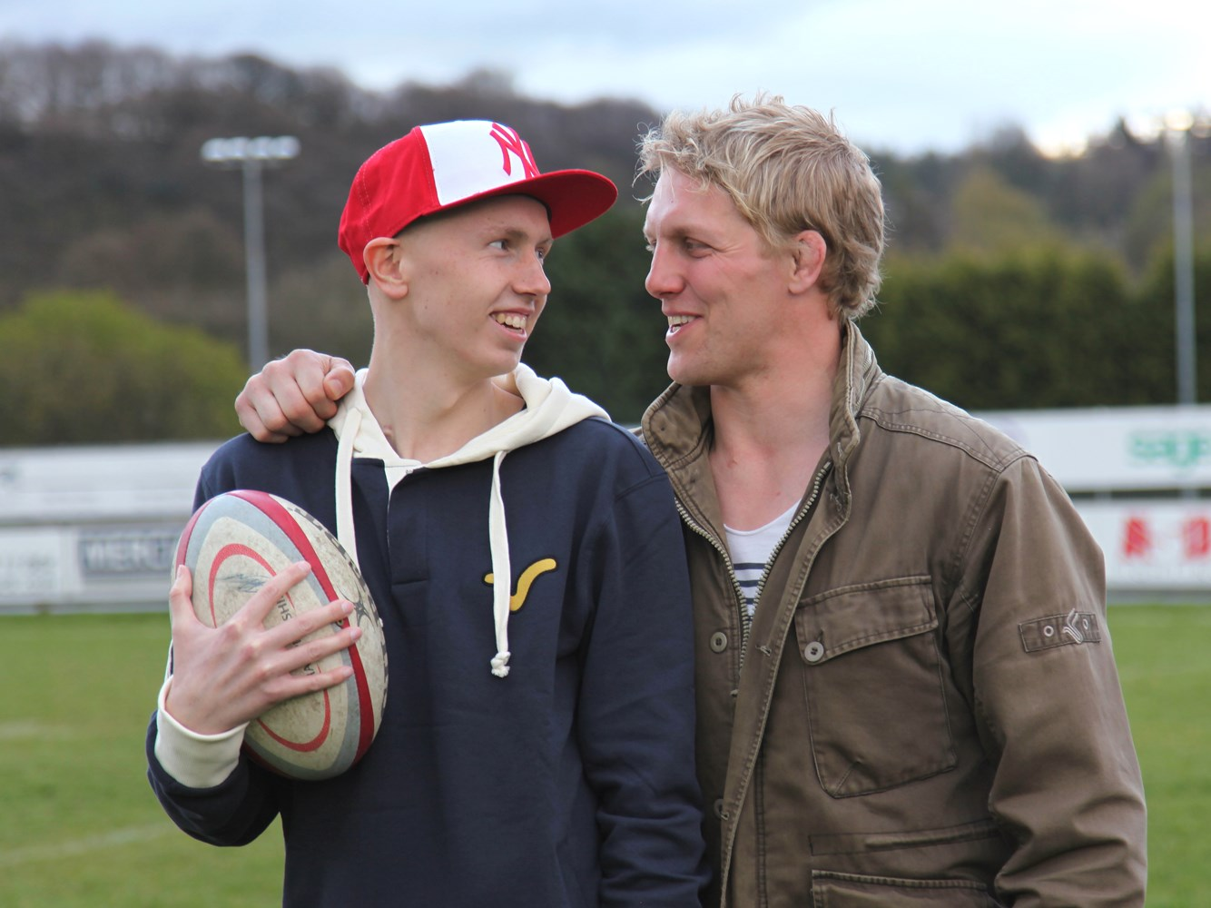 Lewis Moody with Joss
