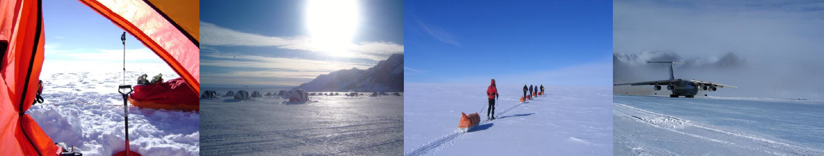 Modern day expedition to the South Pole