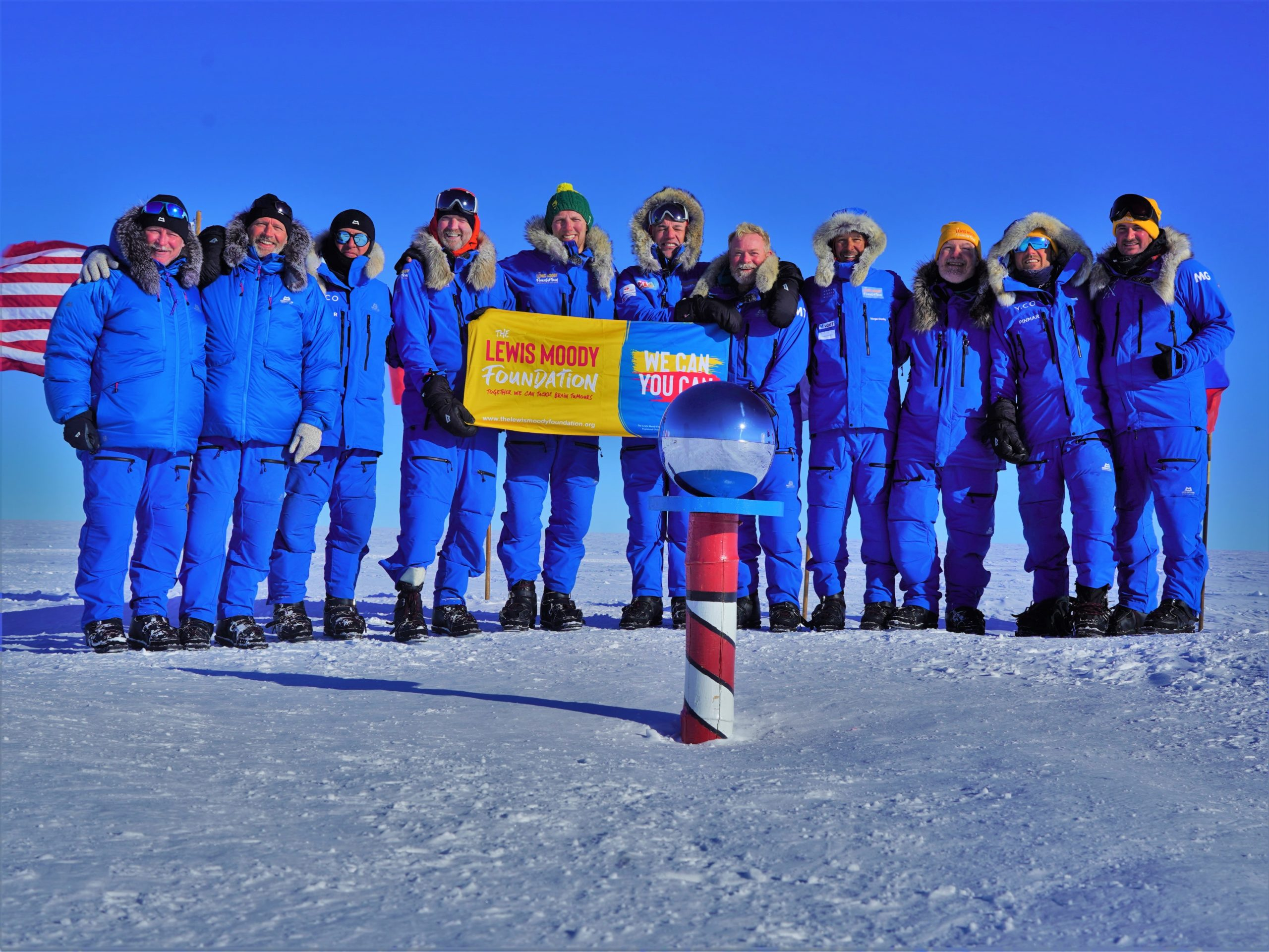 Headsouth team arrive at the South Pole!